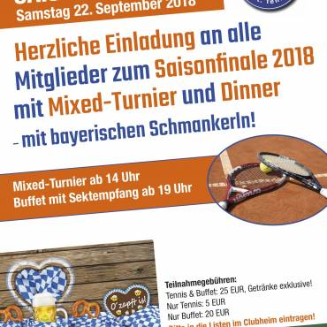 Tennis Saisonfinale mit Mixed-Tennis 22.9