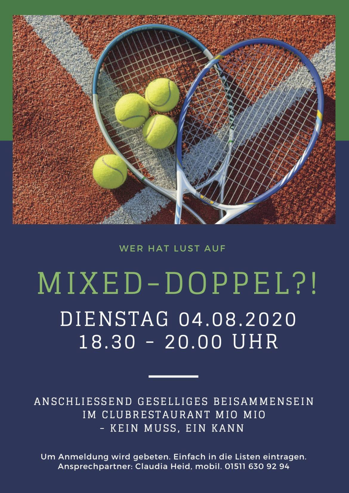 Mixed Doppel?! –                                     Save the date 4.8!