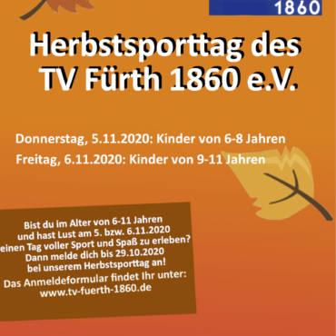 Herbstsporttag TV Fürth 1860 – 5 & 6 November